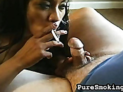 Loni Needs a Smoke and a Cock in Her Mouth