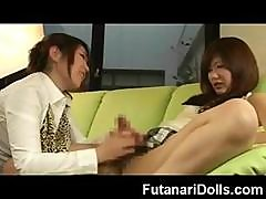 Futanari Teen Squirts And Cum!