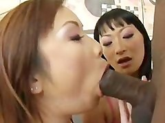 Tia Tanaka and her friend double teams a BBC