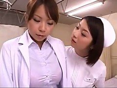 Nurse Licking And Fingering Shy Busty Doctor Pussy In The Hospital