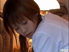 Japanese Babe Rena Gets a Load of Cum