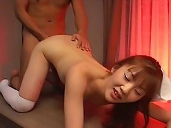 Japanese nurse fucked hard from behind!