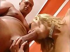 Sexy Blonde Asian Chick Sabrina Nibbles On His Tool And Gets Banged In Her Gaping Ass