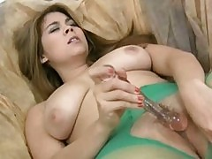 Asian coed Mai Ly fucking her toy