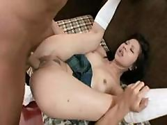 Japanese Girl Sayuri Munches On His Cock And Then Gets Banged