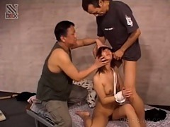 Asian slave with hairy pussy