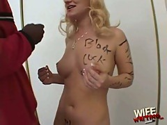 Lucky starr enjoys hot black meat
