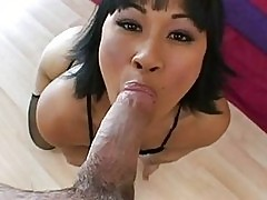 Horny exotic Dragon Lily loves the monstrous dick gliding de...