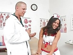 Trashy nurse Jessica Bangkok fucks a monster sample out of t...