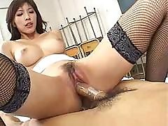Busty Slant-eyed Beauty Riko Tachibana Lies Still While Being Fucked