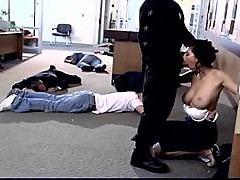 Stunning Tera Patrick gets fucked during the bank robbery