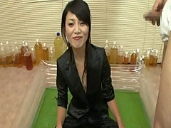 japan girl drink and shower piss