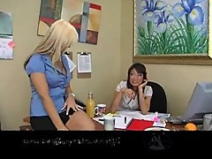 Secretary sarah vandella with lucy lee