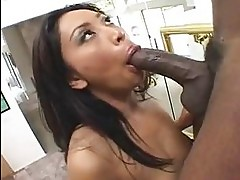 Scorching hot Finesse Navarro loves the dark dick plugged in...