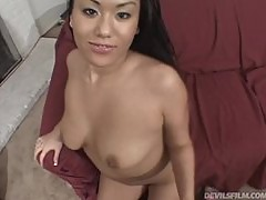 Nasty Avena Lee rides big dick before she gets facialed