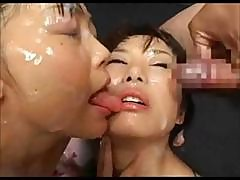 Sperm Drenched Japanese Lesbian Hotties