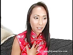 A huge thick cock makes Bamboo beg for mercy