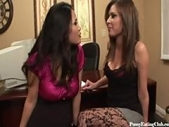 Jessica Bangkok and Victoria Lawson is some MILF lesbian pussyeating fun