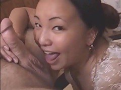 Nasty mature Asian gets cumfaced after hot blowjob!
