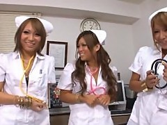 Three Filthy And Sexy Nurses Playing With One Hard And Lucky Cock