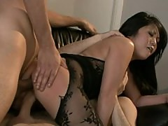 Double Penetration For The Beautiful Asian Kaiya Lynn In Threesome