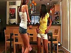 Brooke skye and kat young pantie dance