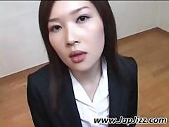 Asian Girl Has A Mouth Full Of Cum And Sucks More Hard Cock