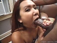 Kylie Rey sucks and deepthroats a BBC and swallows the cum