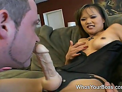 Lovely Asian femdom likes it rough