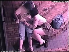 Asian couples enjoying outdoor sex