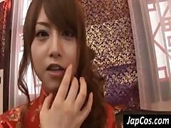 Skiinny Asian Geisha Gets Teased And Played With By Customer