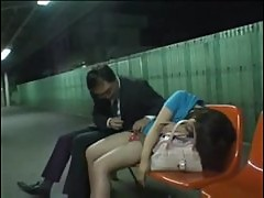 Japanese chick is totally drunk and groped
