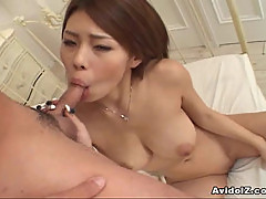 Sexy Haruka Sanada giving good head!