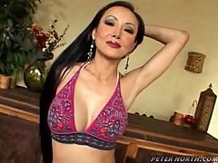 Slutty Ange Venus gives hot blowjob and gets a facial