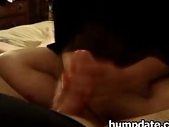 Wife gives nice handjob with ruined orgasm