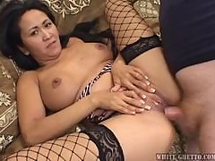 Kitty Langdon the brunette MILF gets fucked rough