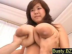 Look at this Japanese with enormous boobs!