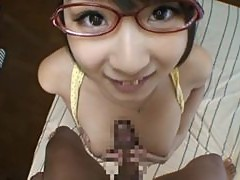 Gorgeous Teen Hitomi Kitagawa Rides A Stiff Boner Until It Cums On Her Face